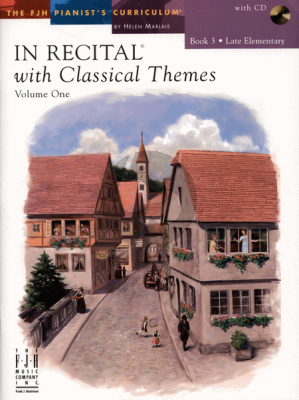 Marlais In Recital with Classical Themes Vol.1 Book 3 Late Elementary Piano (Book with Cd)