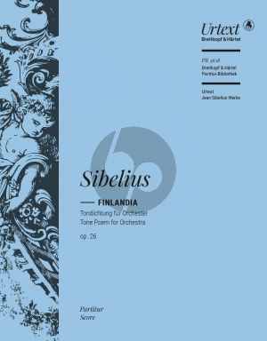 Sibelius Finlandia Opus 26 Orchester Partitur (edited by Timo Virtanen)