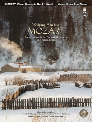 Mozart Piano Concerto No.11 F-Major KV 413 Bk-Cd Music Minus One