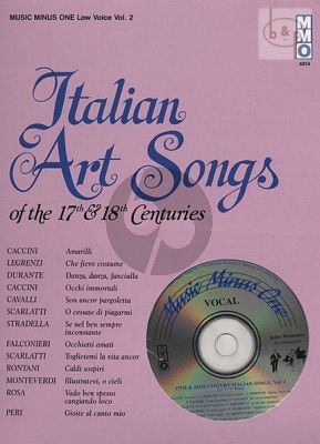 Italian Art Songs of the 17th- 18th. Centuries Vol.2 Low Voice (Bk-Cd)