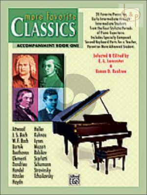 More Favoriet Classics Accompaniment Book Vol.1