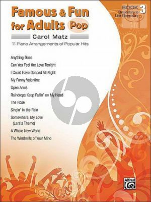 Famous & Fun for Adults Pop Vol.3