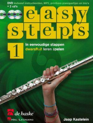 Kastelein Easy Steps Vol.1 Fluit (Bk-DVD- 2 Cd's) (In eenvoudige stappen fluit leren Spelen)