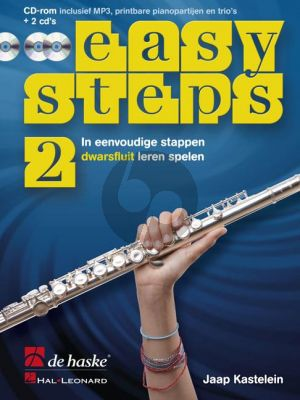 Kastelein Easy Steps Vol.2 voor Fluit (Bk-CD Rom- 2 Cd's) (In eenvoudige stappen fluit leren spelen)