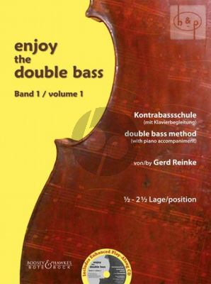 Enjoy the Double Bass Vol.1 (Double Bass Method with Piano Acc.) (1 / 2 - 2 1 / 2 Position)