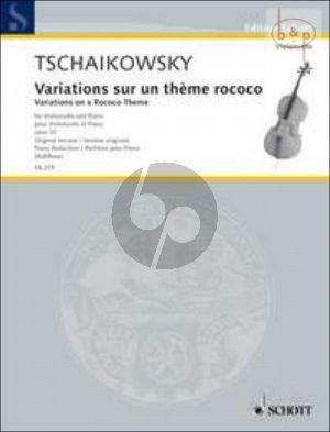 Variations sur un Theme Rococo Op.33 Violoncello-Piano