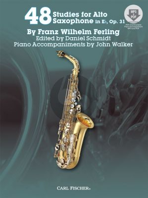 Ferling 48 Studies Op.31 for Saxophone (Bk-Cd, contains MP3 , Audio and PDF Files) (Edited by Daniel Schmidt)