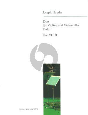 Haydn Duo D-dur Hob.VI:D1 Violine und Violoncello (Frank Nagel)