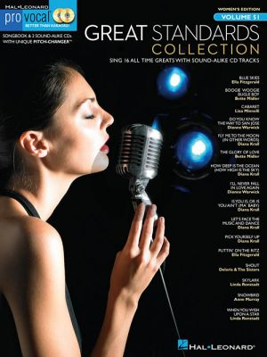 Great Standards Collection (Pro Vocal Woman Edition Vol.51) (Bk-Cd)