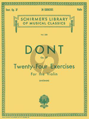Dont 24 Exercises Op. 37 for Violin (Louis Svecenski)