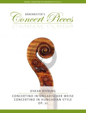Rieding Concertino a-minor Op.21 (Hungarian Style) (1 - 3 pos.) (edited by Kurt Sassmannshaus)