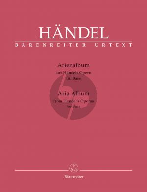 Handel Aria Album from Handel's Operas Bass Voice (ital.) (edited by Donald Burrows)