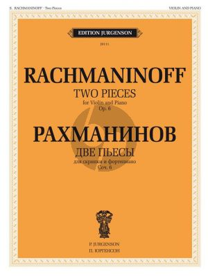 Rachmaninoff 2 Pieces Op.6 for Violin and Piano