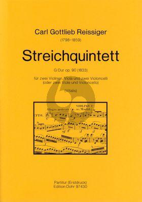 Reissiger Quintett G-dur Op.90 (1833) 2 Violinen-Viola-Violoncello Stimmenset (Chr. Vitalis)