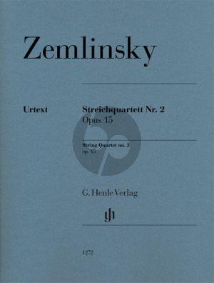 Zemlinsky Quartet No.2 Op.15 2 Violins-Viola and Violoncello (Parts) (edited by Dominik Rahmer)