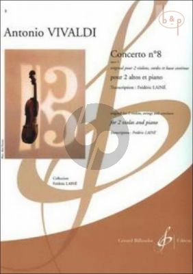 Concerto No.8 Op.3 (Original for 2 Violins, Strings and Continuo)