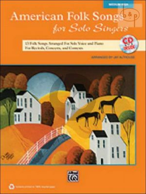 American Folk Songs for Solo Singers (13 Folk Songs for Recitals, Concerts and Contests) (Medium High)
