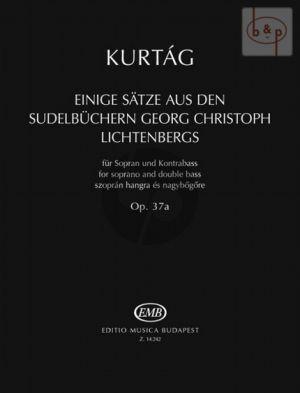 Einige Satze aus den Sudelbuchern Georg Christoph Lichtenbergs Op.37a