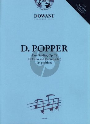 Popper Easy Studies Op.76 Bk-Cd (with 2nd Cello part and Piano Accomp.) (1st.Pos.)