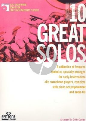 10 Great Solos for Alto Saxophone (with Piano Accomp.) (Bk-Cd)