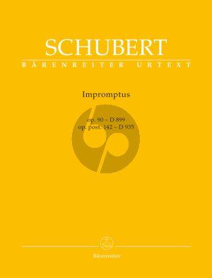 Schubert Impromptus Op. 90 D 899 - Op. post. 142 D 935 Piano (edited by Walther Dürr)
