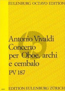 Vivaldi Konzert D-dur PV 187 Oboe-Streicher-Bc Partitur (Jürgen Braun)