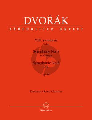 Dvorak Symphony No.8 G-major Op.88 Full Score (edited by Jonathan Del Mar) (Barenreiter-Urtext)