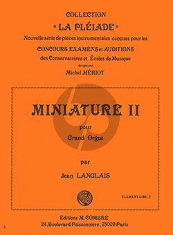 Langlais Miniature II pour Orgue