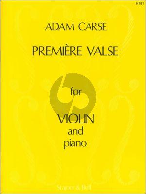 Carse Premiere Valse Violin - Piano