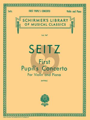 Seitz Concerto No.1 D-major Op.7 Violin and Piano (edited by Philipp Mittell)