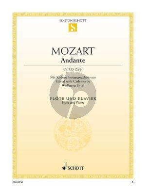 Mozart Andante KV 315 (285e) (Cadenza by Wolfgang Birtel) Flote-Klavier