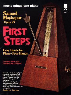 Majkapar  The First Steps Op.29 Piano 4 Hands (Bk-Cd)