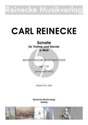 Reinecke Sonate Op. 116 Violine und Klavier