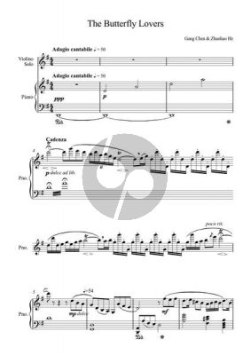Chen He Butterfly Lovers Concerto (arr. Violin and Piano)