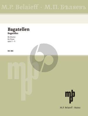 Silvestrov Bagatellen Op.1-5 Klavier