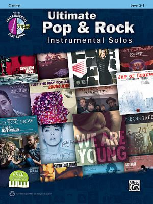 Ultimate Pop & Rock Instrumental Solos Clarinet (Bk-Cd)