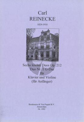 Reinecke 6 Leichte Duos Op.212 No.1 G-Major Violine - Klavier