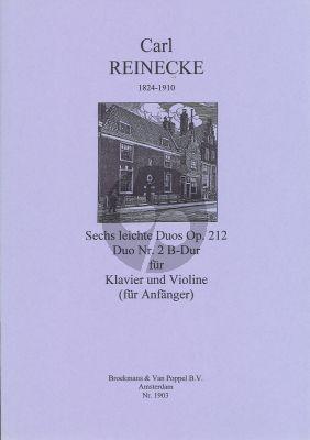 Reinecke 6 Leichte Duo's Op.212 No.2 B-flat Major Violin - Klavier