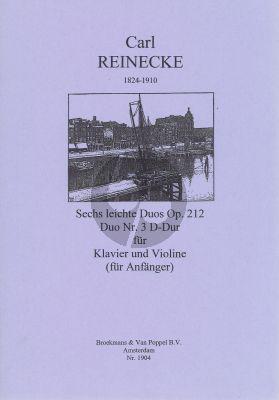 Reinecke 6 Leichte Duo's Op.212 No.3 D-Major Violine - Klavier