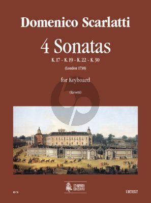 Scarlatti 4 Sonatas Harpsichord (edited by Valeria Tarsetti)