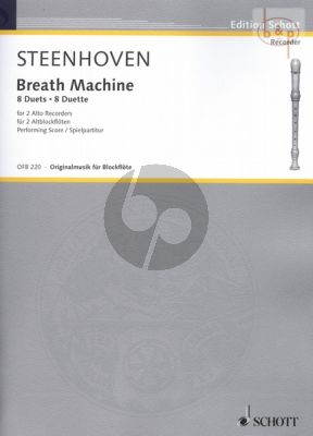 Steenhoven Breath Machine (8 Duets) 2 Treble Recorders (interm.-adv.level)