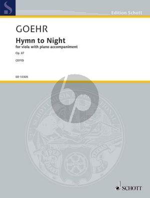 Goehr Hymn to the Night Op.87 Viola-Klavier