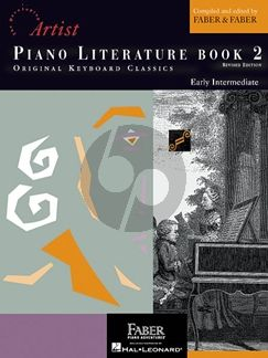 Faber Hartmann Piano Adventures - Literature Book 2 Developing Artist Original Keyboard Classics (Book with Audio Online)