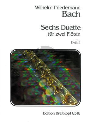 Bach 6 Duette Vol.2 2 Flöten (Gerhard Braun)