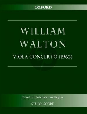 Walton Concerto (1962) (Viola and Orchestra) (Edited by Christopher Wellington Study Score)
