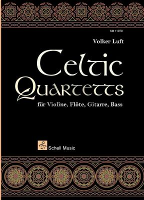 Celtic Quartets Violine-Flote-Gitarra-Bass (Part./Stimmen)