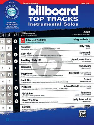 Billboard Top Tracks Instrumental Solos Tenor Sax. (Bk-Cd)
