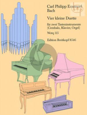 4 Kleine Duette (Wotq 115) (2 Tasteninstr.)