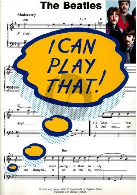 I Can Play That Beatles Vol.2 (Piano/Vocal/Guitar)