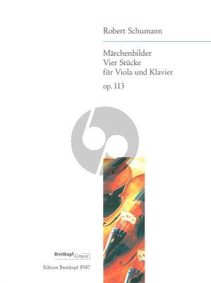 Schumann Marchenbilder (4 Stucke) Op.113 Viola-Klavier (Draheim)